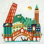 Click for more details of Pretty Little Italy (cross stitch) by Satsuma Street