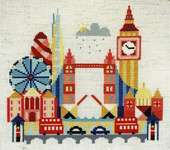 Click for more details of Pretty Little London (cross stitch) by Satsuma Street