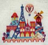 Click for more details of Pretty Little Paris (cross stitch) by Satsuma Street