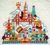 Click for more details of Pretty Little San Francisco (cross stitch) by Satsuma Street