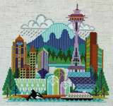 Click for more details of Pretty Little Seattle (cross stitch) by Satsuma Street