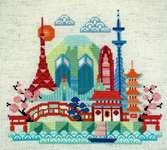Click for more details of Pretty Little Tokyo (cross stitch) by Satsuma Street