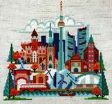 Click for more details of Pretty Little Toronto (cross stitch) by Satsuma Street