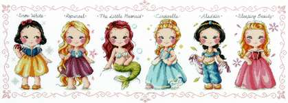 Click for more details of Princess Collection (cross stitch) by Soda Stitch