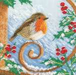 Click for more details of Proud Robin (cross-stitch kit) by Lanarte