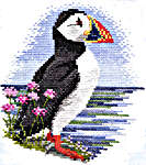 Click for more details of Puffin (cross stitch) by Rose Swalwell