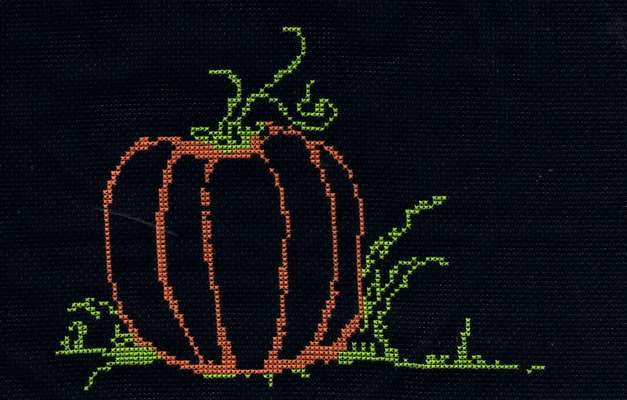 Click for more details of Pumpkin (cross stitch) by Anne Peden