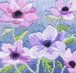 Click for more details of Purple Anemones (long-stitch) by Rose Swalwell