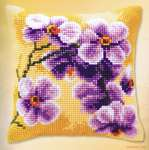 Click for more details of Purple Orchid Cushion Front (tapestry) by Vervaco