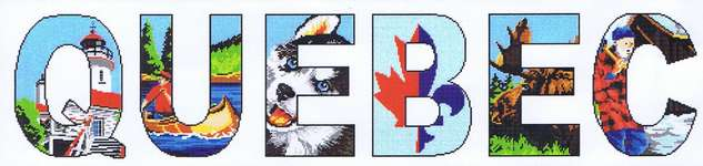 Click for more details of Quebec (cross stitch) by Marie Coeur