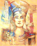 Click for more details of Queen Nefertiti (cross-stitch kit) by Lanarte