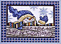 Click for more details of Quilted Snow Day (cross-stitch pattern) by Stoney Creek