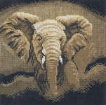 Click for more details of Rampaging Elephant (cross-stitch kit) by Lanarte