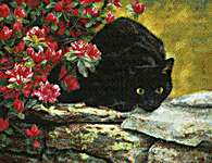 Click for more details of Ready to Pounce (cross stitch) by Kustom Krafts