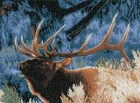 Click for more details of Red Deer at Dawn (cross-stitch kit) by Lanarte