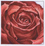 Click for more details of Red Rose (cross stitch) by Permin of Copenhagen