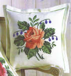 Red Rose Cushion