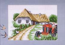 Click for more details of Red Tractor and hens (cross stitch) by Permin of Copenhagen