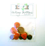 Click for more details of Red Vintage Buttons x10 (buttons and brads) by Elizabeth Grace
