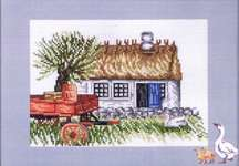 Click for more details of Red Wagon (cross stitch) by Permin of Copenhagen