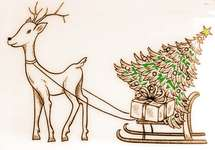Click for more details of Reindeer with Gifts (stamps) by Deep Red