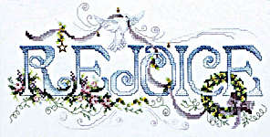 Click for more details of Rejoice (cross stitch) by Stoney Creek