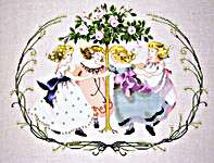 Click for more details of Ring Around the Rose Tree (cross stitch) by Mirabilia Designs