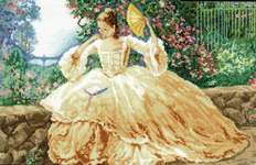 Click for more details of Ringlets and Roses (cross stitch) by Janlynn