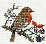Click for more details of Robin (cross stitch) by Eva Rosenstand