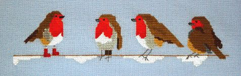 Click for more details of Robin in Boots (cross stitch) by Anne Peden