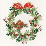 Click for more details of Robin Wreath (cross stitch) by Bothy Threads