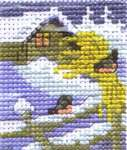 Click for more details of Robins in the Snow (cross stitch) by Permin of Copenhagen