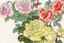 Click for more details of Rose Blooms (cross stitch) by Bothy Threads