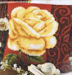 Click for more details of Rose Cushion Front (tapestry kit) by Vervaco