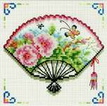 Click for more details of Rose Fan (no-count cross stitch) by Needleart World