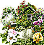 Click for more details of Rose Garden (cross-stitch kit) by Lanarte