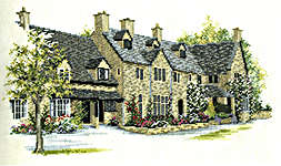 Click for more details of Rose Tree Cottages (cross stitch) by Rose Swalwell