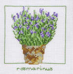 Click for more details of Rosemary Pot (cross stitch) by Permin of Copenhagen