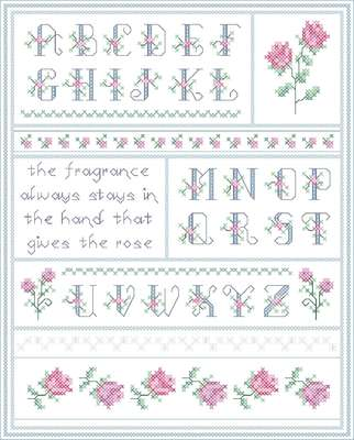 Click for more details of Roses Alphabet (cross stitch) by Designs by Cathy