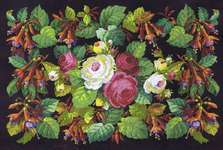 Click for more details of Roses and Fuchsias (cross stitch) by Permin of Copenhagen