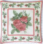 Roses Bouquet Cushion Front