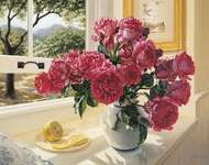 Click for more details of Roses by the Window (tapestry) by Grafitec