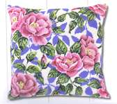 Click for more details of Roses Cushion Front (tapestry) by Permin of Copenhagen