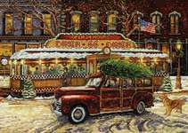 Click for more details of Route 66 Christmas Diner (cross stitch) by Design Works