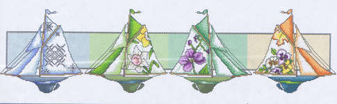 Click for more details of Sailboat Seasons (cross-stitch pattern) by Mike Vickery