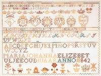 Click for more details of Sampler 1842 (cross stitch) by Thea Gouverneur