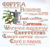 Click for more details of Sampler of Coffee (cross stitch) by Thea Gouverneur