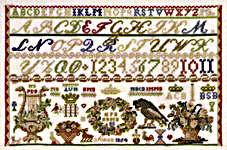 Sampler Soro Denmark 1854