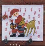 Click for more details of Santa and Deer Advent Calendar (cross stitch) by Permin of Copenhagen