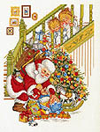 Click for more details of Santa Claus and Presents (cross stitch) by Eva Rosenstand